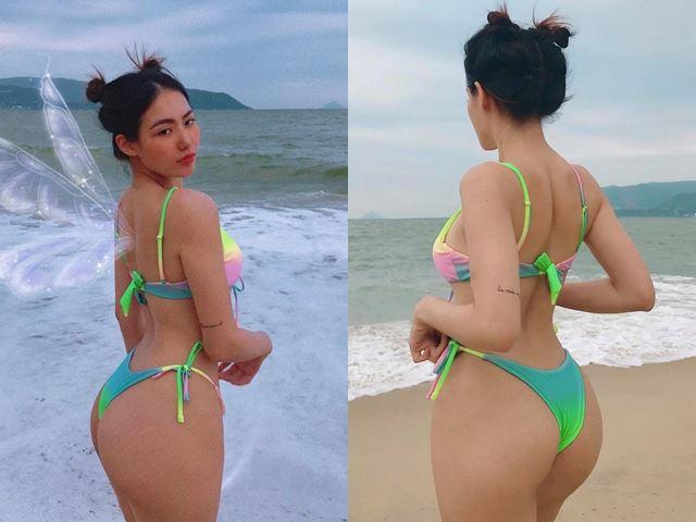 """Sở hữu vòng 3 trái táo 100cm như hot girl Nha Trang """"nghiện"""" bikini"""