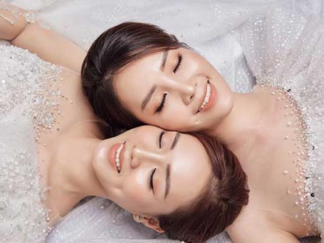 Á hậu Thụy Vân và bạn gái nghệ sĩ Công Lý lộng lẫy trong váy cưới