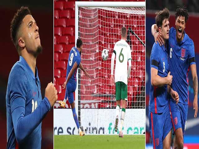 Video highlight trận Anh - CH Ireland: Maguire mở điểm, ấn định bằng penalty