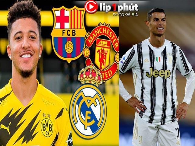 Real đại chiến Barca cuỗm Sancho trước mũi MU, Ronaldo sắp rời Juventus vì sao? (Clip 1 phút Bóng đá 24H)