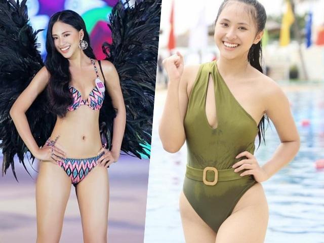 Thí sinh Hoa hậu Việt Nam đỗ 3 trường đại học Mỹ lộ lý do chọn đồ bơi khoét hông cao