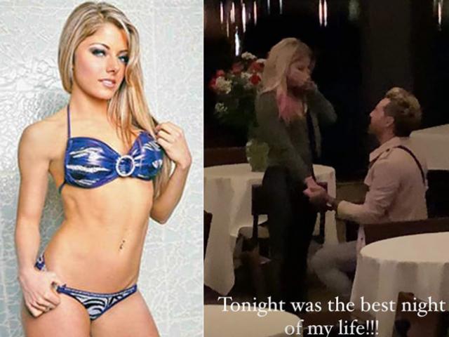 """Màn cầu hôn gây sốt vạn fan, kiều nữ WWE """"trói chặt"""" ca sĩ ra sao?"""
