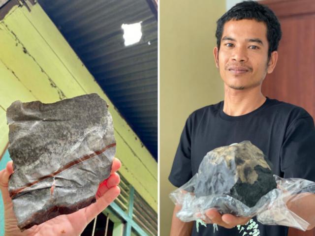 Thiên thạch 2,5 kg đâm thủng mái nhà nổ chói tai, chủ tiệm quan tài thành triệu phú