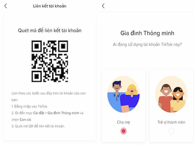 Hướng dẫn cha mẹ liên kết tài khoản TikTok với con để cài đặt bảo mật