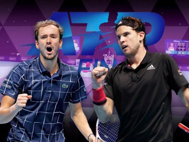 Trực tiếp tennis Thiem - Medvedev: Bản lĩnh set 3, Medvedev lên ngôi (Chung kết ATP Finals)