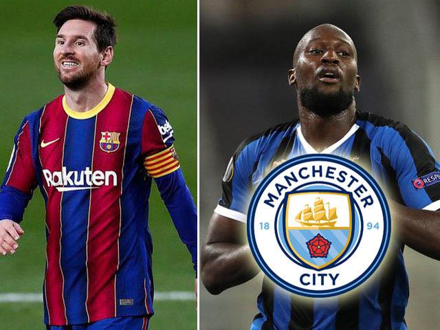 """Bất ngờ Man City từ bỏ Messi, săn Lukaku và """"Cavani mới' thay thế"""