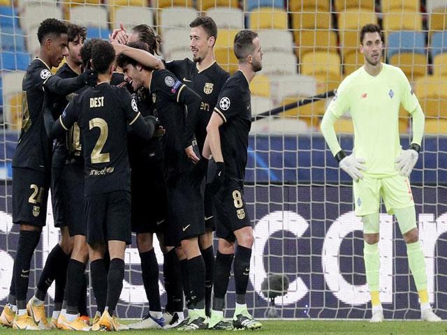 Dynamo Kyiv - Barcelona: 52nd minute turnaround,