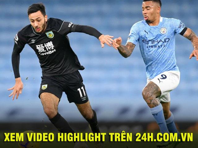 """Video Man City - Burnley: Hat-trick siêu sao, tưng bừng """"đại tiệc"""""""