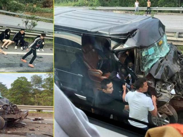 Xe Limousine tông đuôi ô tô đầu kéo trên cao tốc, 8 người bị thương