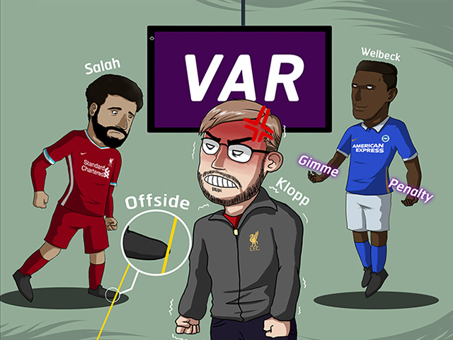 """Ảnh chế: Klopp phát điên khi Liverpool liên tiếp bị VAR """"ngoảnh mặt"""""""