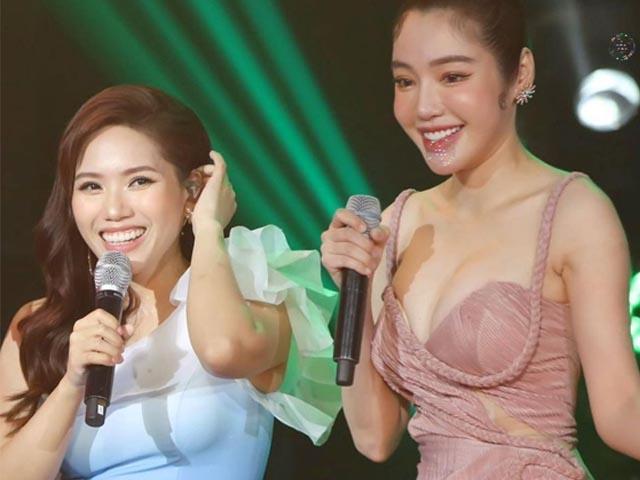 Elly Trần lấn át toàn bộ dàn khách mời với váy cúp ngực gây thót tim tôn vòng 1 đầy