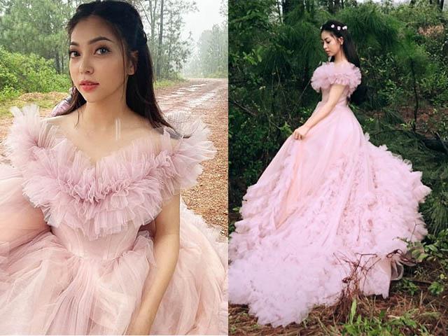 """Khi bị hỏi """"Bao giờ lấy chồng"""", Nhật Lê bất ngờ tung ảnh cưới giữa rừng đẹp xuất sắc"""