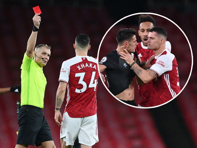 SAO Arsenal bóp cổ đối thủ bị thẻ đỏ: Fan nổi giận đòi đuổi, HLV Arteta bức xúc