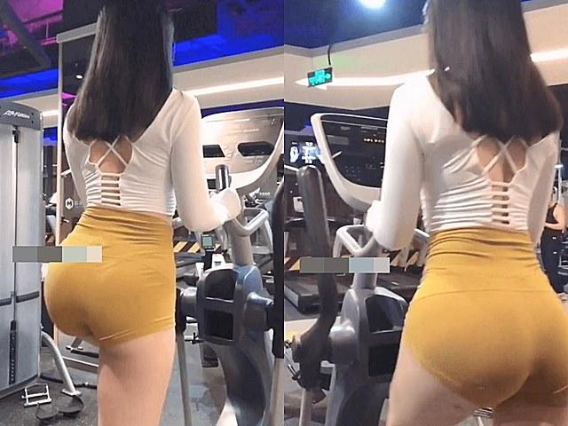 """Người đẹp gây xì xào vì mặc chiếc quần gym """"tai tiếng"""": Đi tập hay cố khoe body?"""