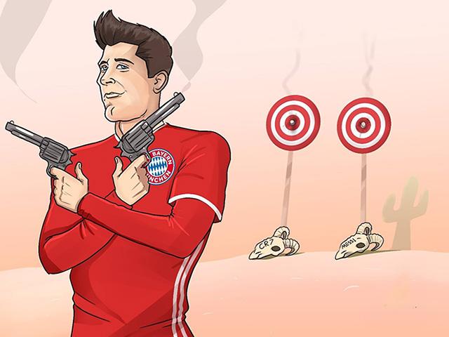 """Ảnh chế: Lewandowski """"bắn hạ"""" Ronaldo và Messi giành FIFA The Best 2020"""
