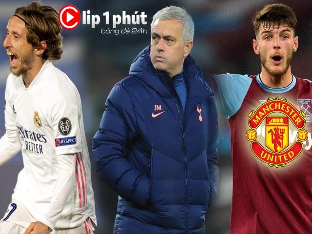Mourinho mơ đón Modric về Tottenham, MU tranh SAO 80 triệu bảng với Chelsea (Clip 1 phút Bóng đá 24H)