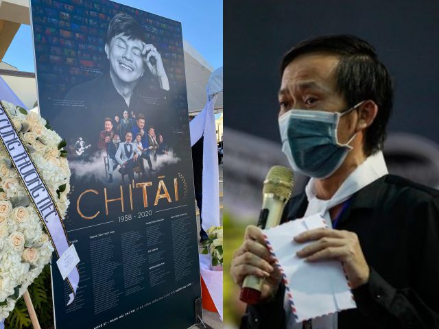 Dàn sao hải ngoại nghẹn ngào nghe bức thư Hoài Linh gửi cố NS Chí Tài trong lễ tang ở Mỹ