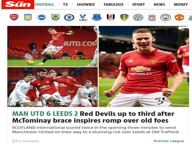 MU đại thắng Leeds 6-2: Báo Anh choáng váng, khen ngợi người hùng McTominay