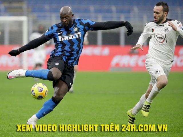 Video Inter Milan - Spezia: Cựu sao Real mở điểm, Lukaku tỏa sáng nhờ penalty