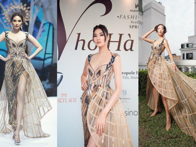 Chiếc váy này có gì đặc biệt mà ba mỹ nhân Lan Khuê, Hoàng Thùy, Thanh Khoa đua nhau mặc?