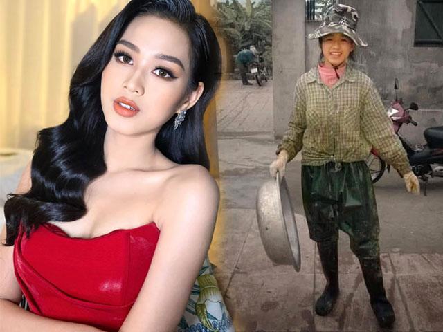 Hoa hậu Đỗ Thị Hà lần đầu hở bạo với váy o ép vòng 1 đầy