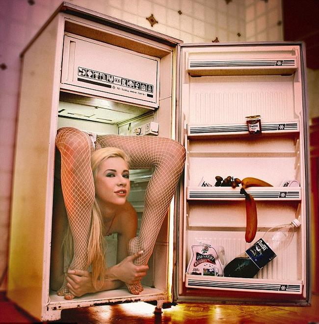 Nằm gọn trong chiếc tủ lạnh