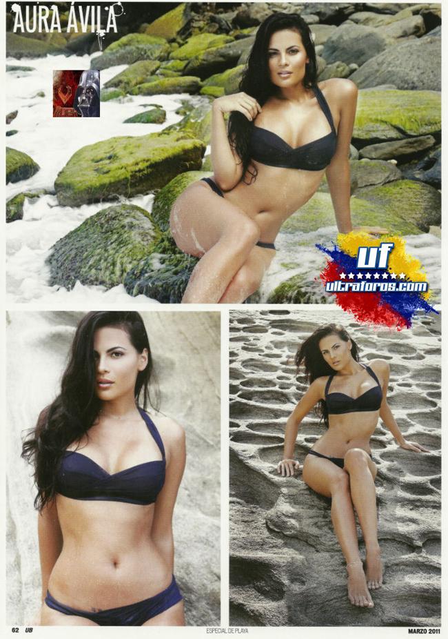 """Cái tên Aura Avila từ lâu đã nổi tiếng ở Venezuela, không chỉ được biết đến trong vai trò người mẫu, mà còn mối tình với chàng tuyển thủ bóng chày Ronny Cedeno. Với số đo ba vòng cực chuẩn 89-61-90, cô người mẫu này thường xuyên xuất hiệntrên trang bìa của nhiều tạp chí. Sở hữu sức hút mạnh mẽ đối với cánh mày râu nhờ thân hình tuyệt hảo, """"viên ngọc"""" của Cedeno đã từng tạo nên những cơn sốt ở giải bóng chày MLB."""