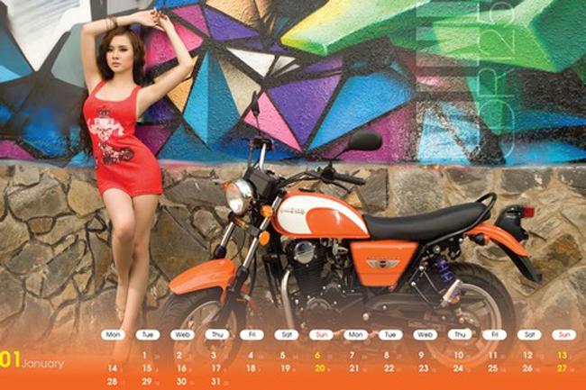 Bộ lịch mang tên 'Sexy Celebrity Calendar 2013' của Motorrock quy tụ những dòng xe mô tô đang phổ biến trên thị trường cùng những người đẹp Việt 'nóng bỏng' đầy quyến rũ.