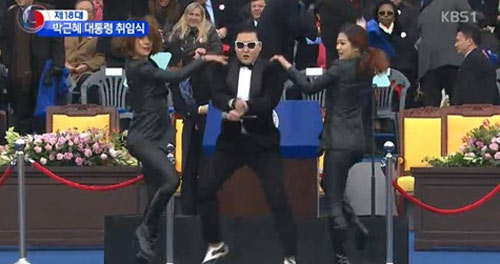 Psy biểu diễn tại lễ nhậm chức Tổng Thống Hàn - 1