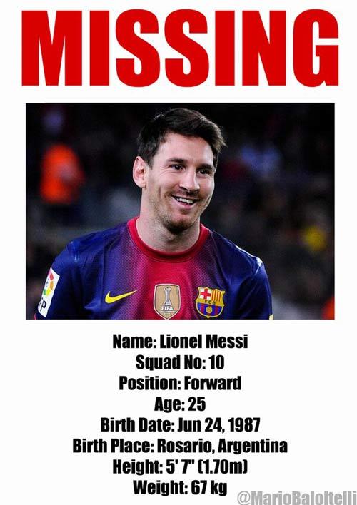 Balotelli chọc tức Messi - 1