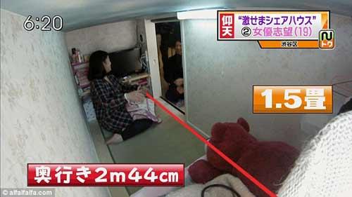 Nhật: Cảnh chui rúc ở nhà trọ bé như quan tài - 1