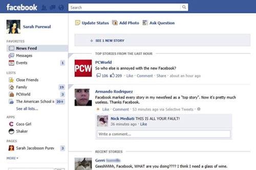 Sự khác biệt giữa News Feed mới và cũ của Facebook - 1