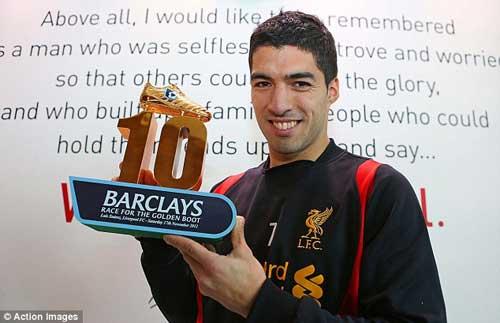 """Suarez lần thứ 2 """"vượt mặt"""" Persie - 1"""
