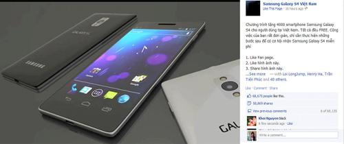 Lật tẩy trò lừa nhận Galaxy S4 miễn phí trên Facebook - 1