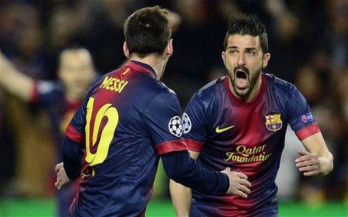 "Messi: ""Ông vua"" vòng 1/8 Champions League - 1"