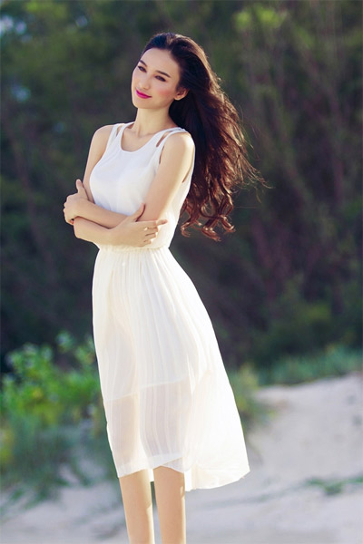 9 ứng dụng váy trắng tuyệt đẹp của sao - 1