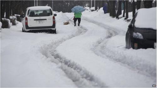 Ảnh: Bão tuyết kinh hoàng tấn công Nhật Bản - 1