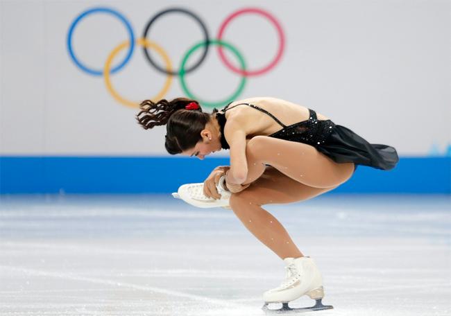 Nữ vận động viên người Nga thực hiện màn trình diễn đẹp mắt