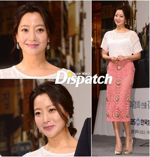 Kim Hee Sun mặc váy xuyên thấu mờ ảo - 1