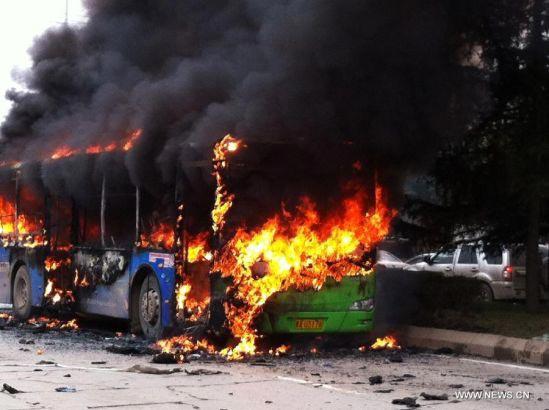 TQ: Phóng hỏa đốt xe bus khiến 6 người chết thảm - 1