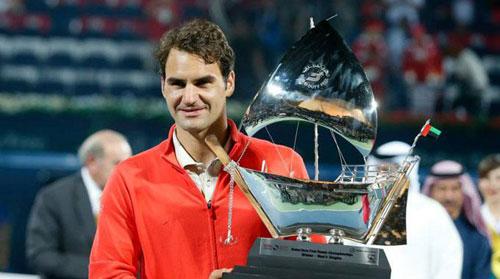 Federer & những con số sau danh hiệu Dubai - 1