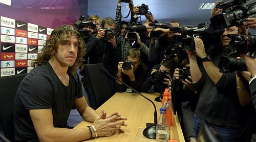 Puyol nói lời chia tay Barca - 1