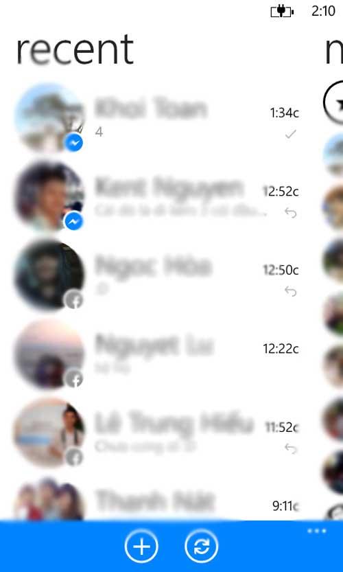 Windows Phone ra mắt ứng dụng Facebook Messenger để chat chit