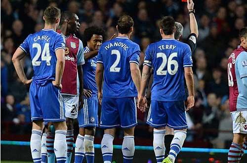 Chelsea: 3 thẻ đỏ & vị đắng ở Villa Park - 1