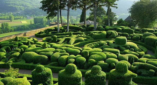 Khu vườn Marqueyssac thuộc xã Vézac, tỉnh Dordogne (Pháp) nổi tiếng với lâu đài được xây dựng từ thế kỷ 17 và những khu vườn hoàng gia đầy lôi cuốn.