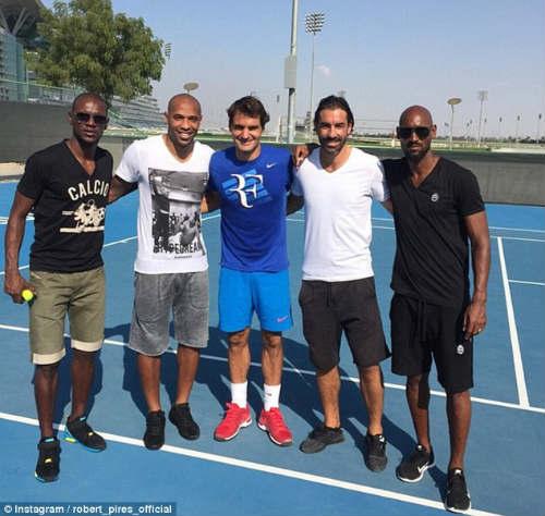 Federer hội ngộ Henry, Anelka, Pires - 1