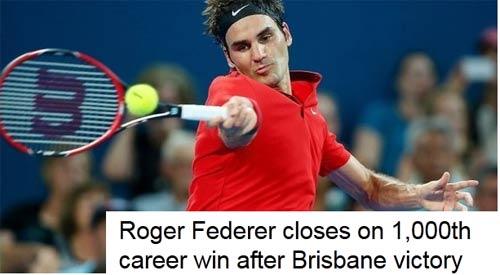 Cột mốc vĩ đại của Federer (CK Brisbane) - 1