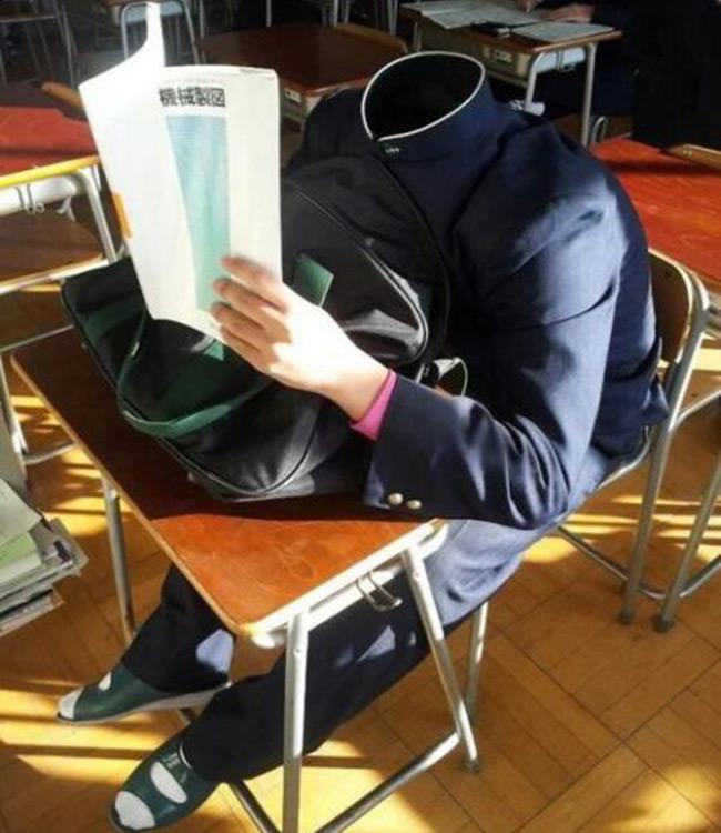 Cách ngủ trong lớp mà không bị phát hiện