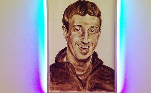 Ảnh chân dung Mark Zuckerberg sơn từ... phân người - 1