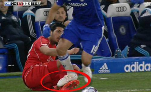 Đá xấu Liverpool, Diego Costa sẽ bị treo giò 3 trận - 1